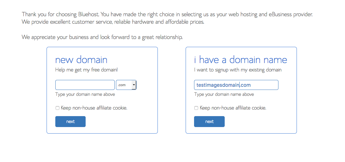 Pick a domain name when you start a blog