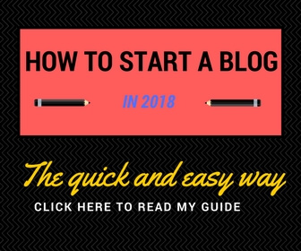 Read my guide for how to start a blog in 2018